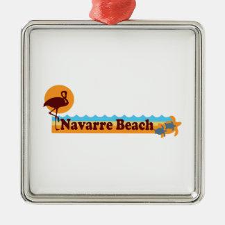 Ornement Carré Argenté Plage de la Navarre
