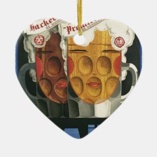 Ornement Cœur En Céramique affiche française originale 1929 d'art déco de