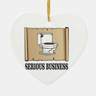 Ornement Cœur En Céramique amusement sérieux d'affaires