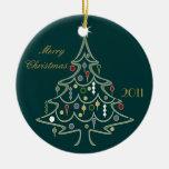 Ornement coloré d'arbre de Noël