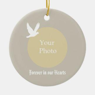 Ornement commémoratif de Noël de colombe - à nos