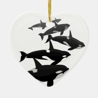 Ornement de baleine personnalisé par ornement de b