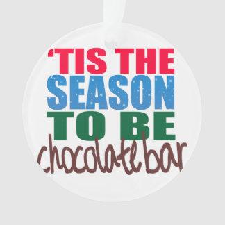 Ornement de barre de chocolat