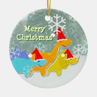 Ornement de dinosaures de Joyeux Noël