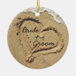 Ornement de mariage de thème de plage