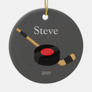 Ornement de Noël d hockey
