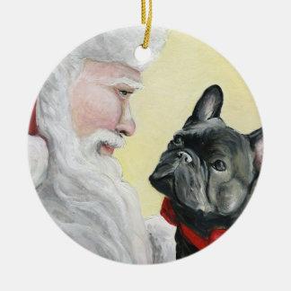 Ornement de Noël de bouledogue français et de