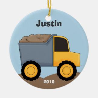 Ornement de Noël de camion à benne basculante