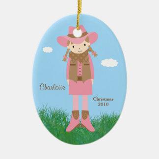 Ornement de Noël de cow-girl