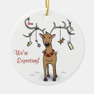 Ornement de Noël de grossesse - ultrason de renne