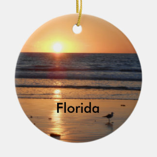 Ornement de Noël de lever de soleil de la Floride
