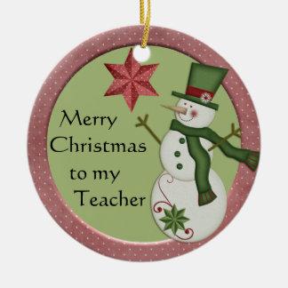 Ornement de Noël de professeur de bonhomme de