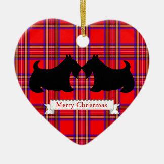 Ornement de Noël de Terrier d écossais