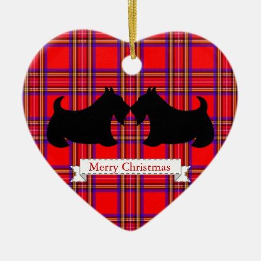 Ornement de Noël de Terrier d'écossais