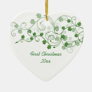 Ornement de Noël d'Irlandais de trèfle premier