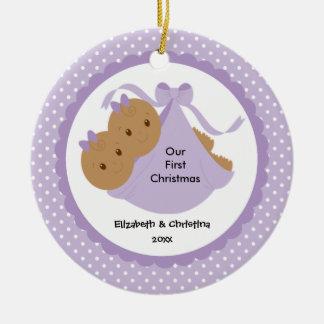 Ornement de Noël du bébé de jumeaux de bébés