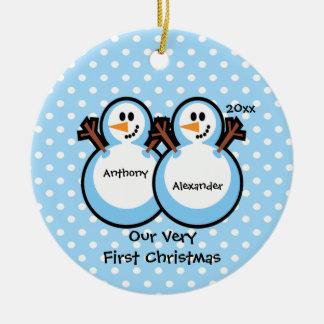 Ornement de Noël du bébé jumeau de garçons de