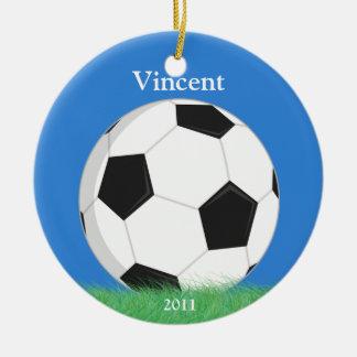 Ornement de Noël du football