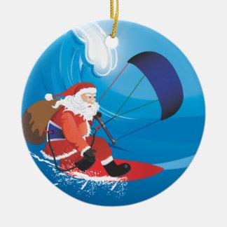 Ornement de Père Noël Kitesurf