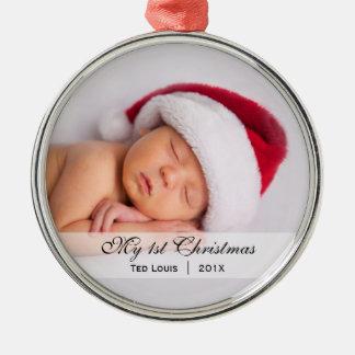 Ornement de photo de Noël de du bébé premier