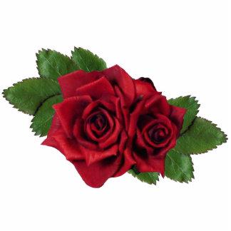 Ornement de roses rouges ornement photo sculpture