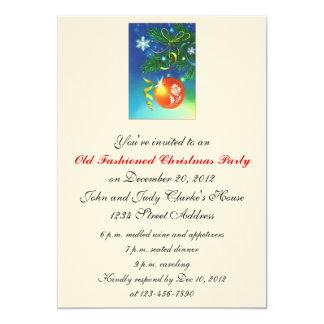 Ornement démodé d'invitations de fête de Noël Carton D'invitation 12,7 Cm X 17,78 Cm