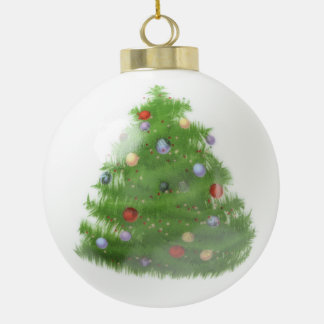 Ornement en céramique de boule de Noël fait sur