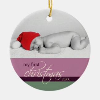 Ornement fait sur commande de ęr Noël du bébé (pru
