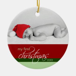 Ornement fait sur commande de ęr Noël du bébé rou