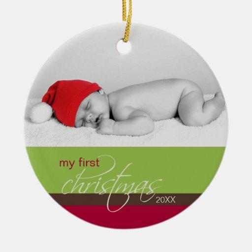 Ornement fait sur commande de ęr Noël du bébé (ver