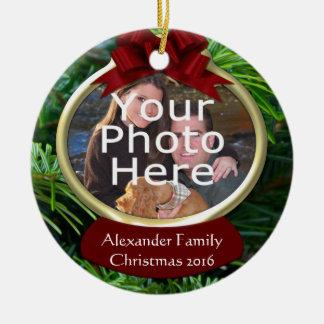 Ornement fait sur commande de Noël de photo de pin