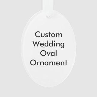 Ornement fait sur commande d'ovale de mariage