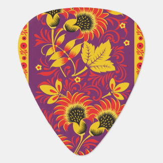 Ornement floral ardent onglet de guitare