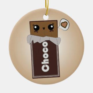 Ornement mignon de barre de chocolat