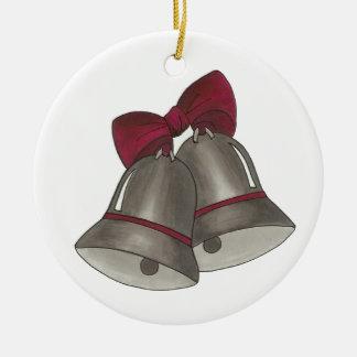 Ornement personnalisé de Bell de mariage de Bells