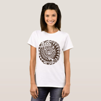 Ornement rond d'élément de conception de mandala t-shirt