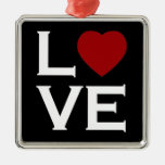 Ornement rouge d'amour de coeur