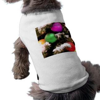 Ornements colorés de vacances d'arbre de Noël Vêtement Pour Animal Domestique