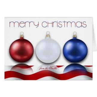 Ornements et carte de Noël patriotiques de drapeau