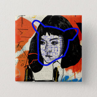 Orphan Black | Abstract MK Clone - Project Leda 2 Inch Square Button