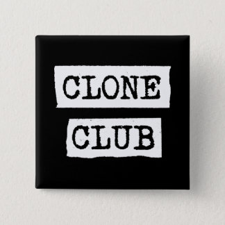 Orphan Black | Clone Club Typography 2 Inch Square Button
