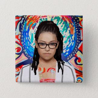 Orphan Black   Cosima Niehaus - Geek Chic 2 Inch Square Button