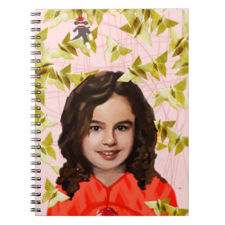 Orphan Black | Kira - Girly Origami  Spiral Notebook