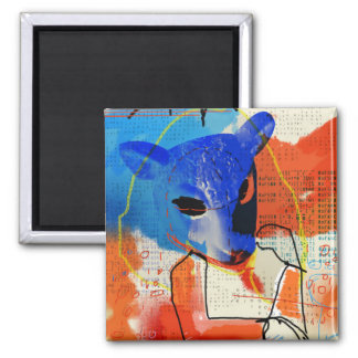 Orphan Black   MK - Sheep Mask Silhouette Magnet