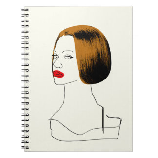 Orphan Black   Rachel - Classy Clone Sketch Spiral Notebook