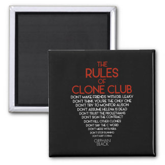 Orphan Black | The Rules of Clone Club Magnet