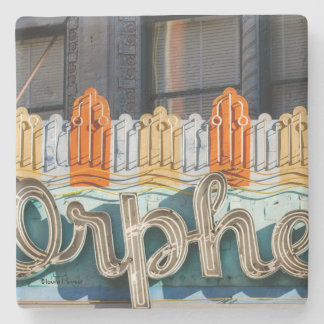 Orpheum Theater Marquee Cork-Backed Stone Coaster