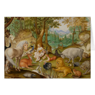 Orpheus Charming the Animals, Card