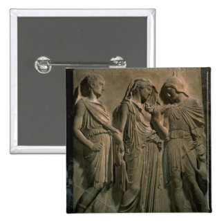 Orpheus, Eurydice and Hermes (marble) 2 Inch Square Button