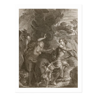Orpheus, Leading Eurydice Out of Hell, Looks Back Postcard